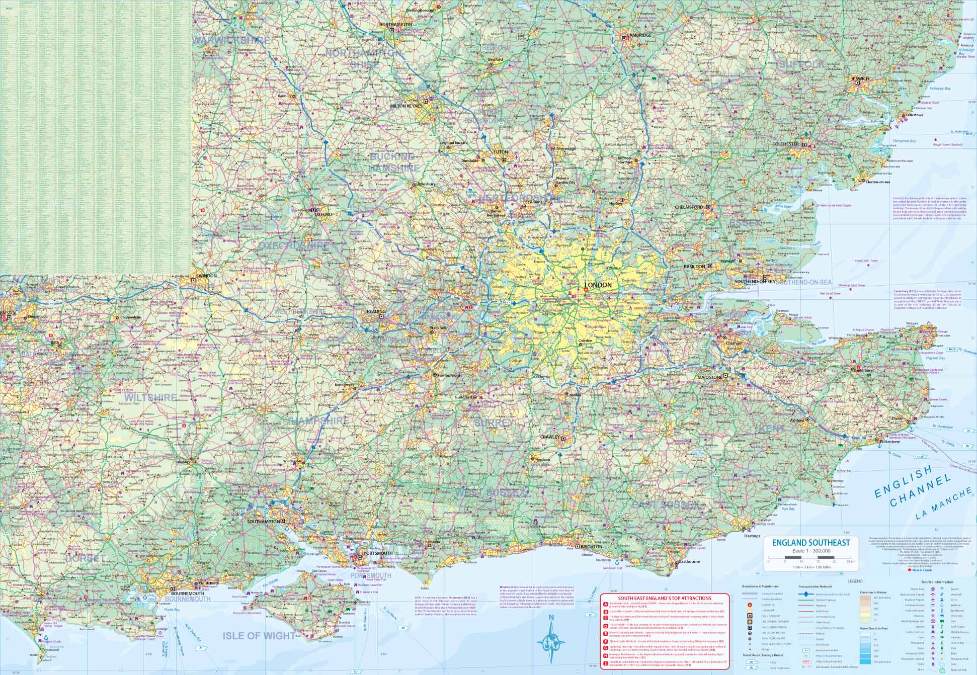 Map Of South East England.London Itm City Map